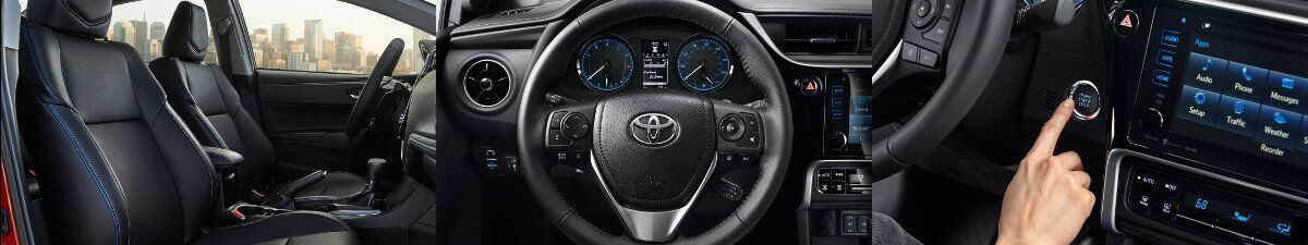 2017 Toyota Corolla interior specs and technology in Tinley Park, IL