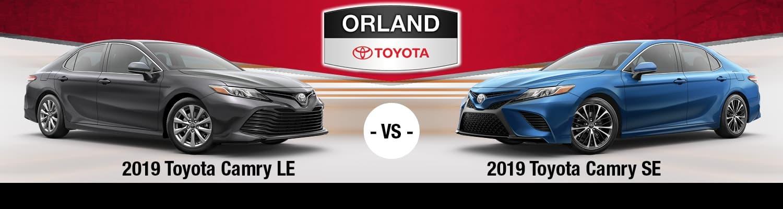 2019 Toyota Camry LE vs. SE