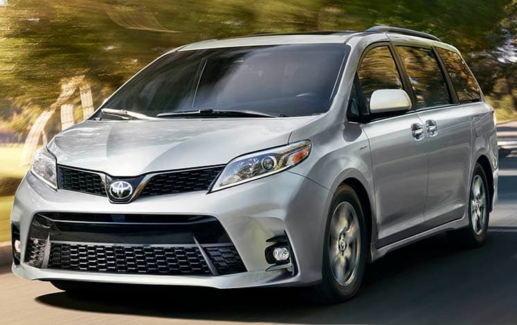 2019 Toyota Sienna Driving quickly on road