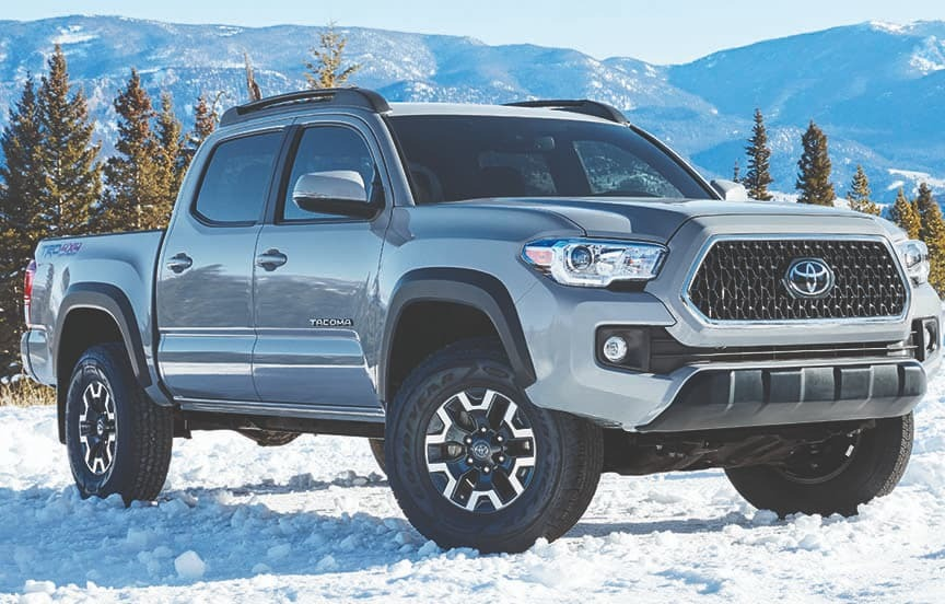 2019 Toyota Tacoma On Snowy and moutnainous backgournd