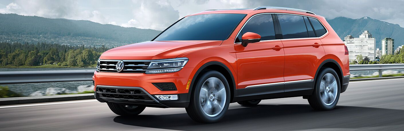 2018 VW Tiguan Diagonal View of Red Exterior
