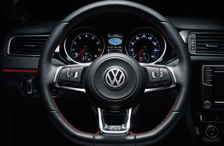 2018 VW Jetta Close-up view of Steering Wheel