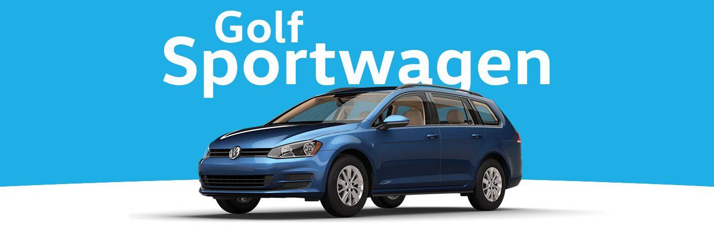 2017 Golf SportWagen in Blue
