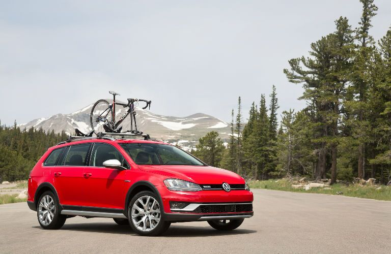 2017 Alltrack with Bike on Top