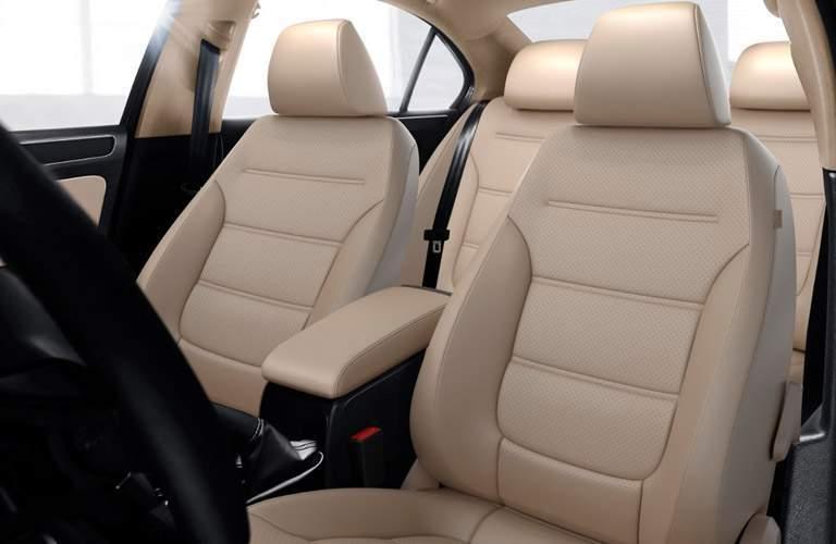 2018 Volkswagen Jetta beige leatherette seats