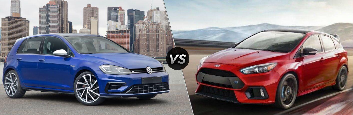 2018 Volkswagen Golf R vs 2018 Ford Focus RS