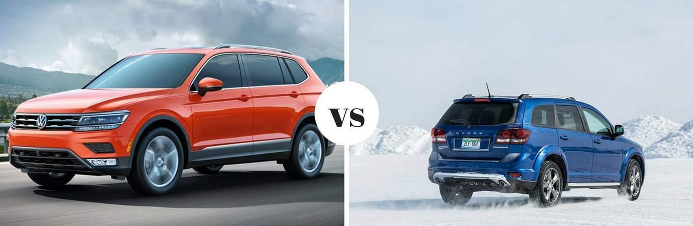 2018 Volkswagen Tiguan vs 2018 Dodge Journey