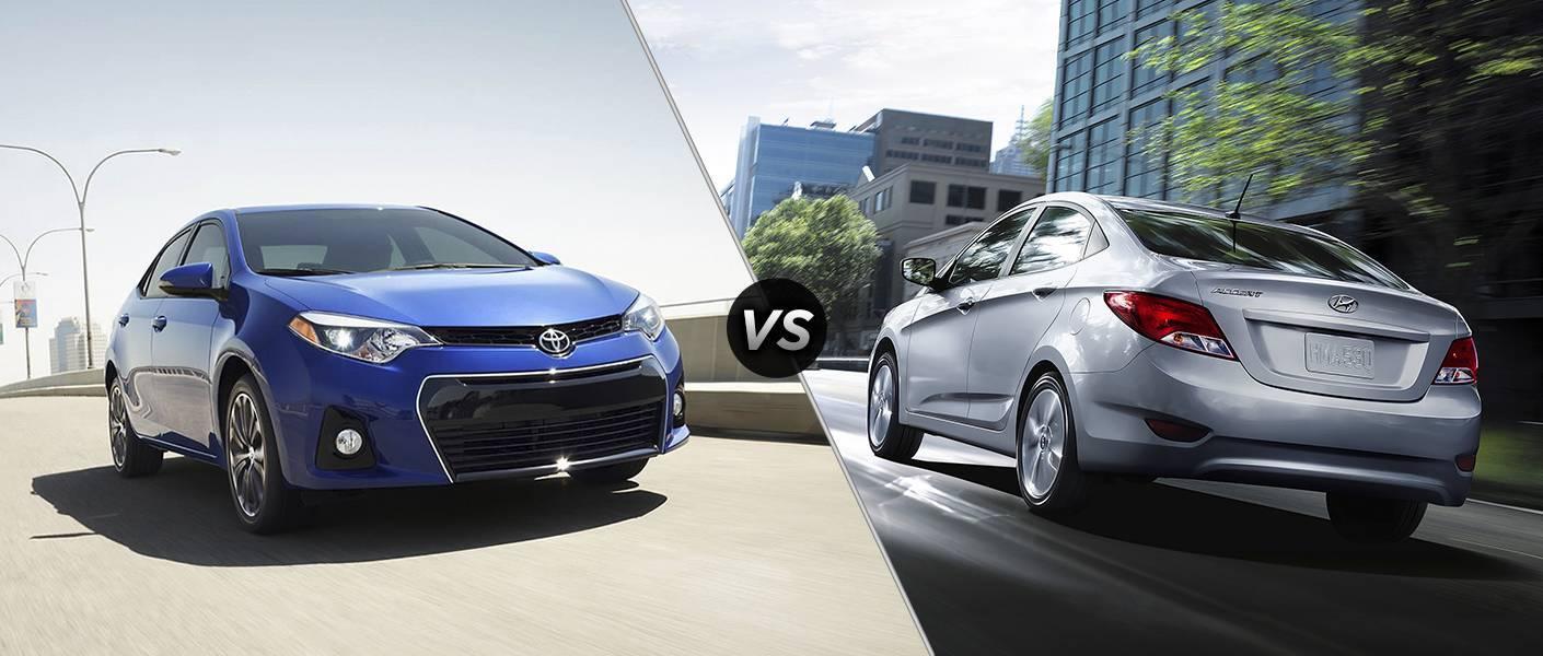 2016 Toyota Corolla vs 2016 Hyundai Accent