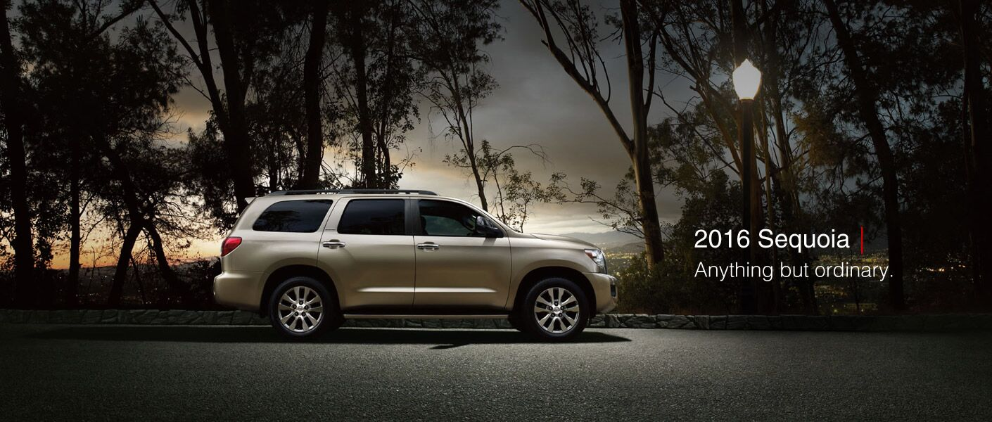 Exterior of the 2016 2016 Toyota Sequoia