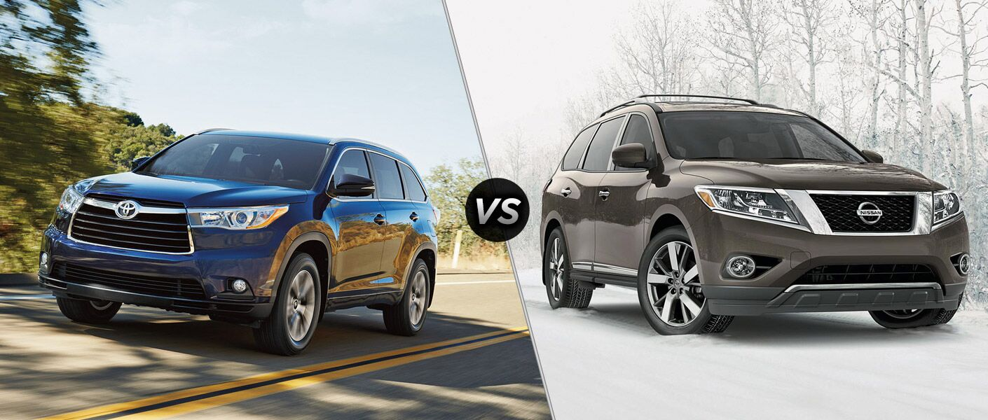 2016 Toyota Highlander vs 2016 Nissan Pathfinder