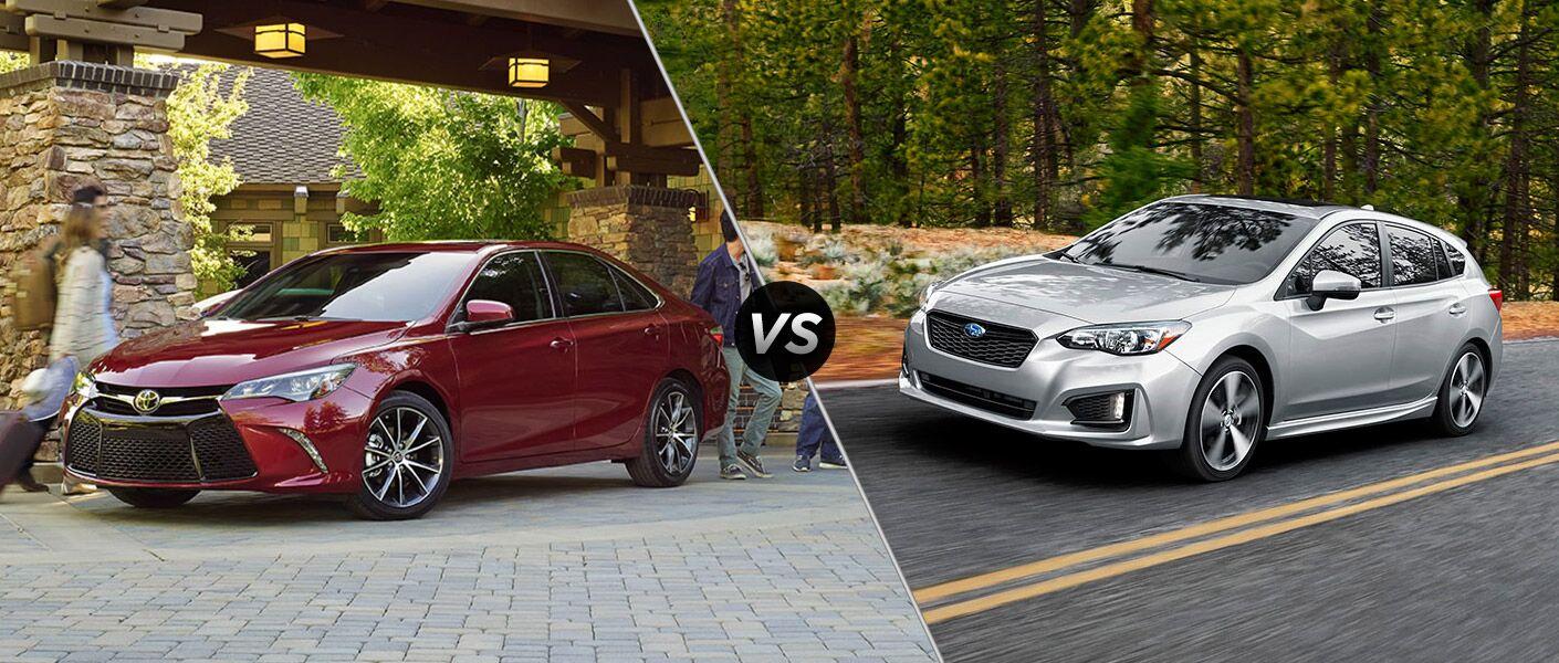 2017 Toyota Camry vs 2017 Subaru Impreza