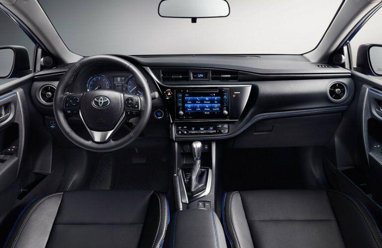 2017 Toyota Corolla interior front seating area
