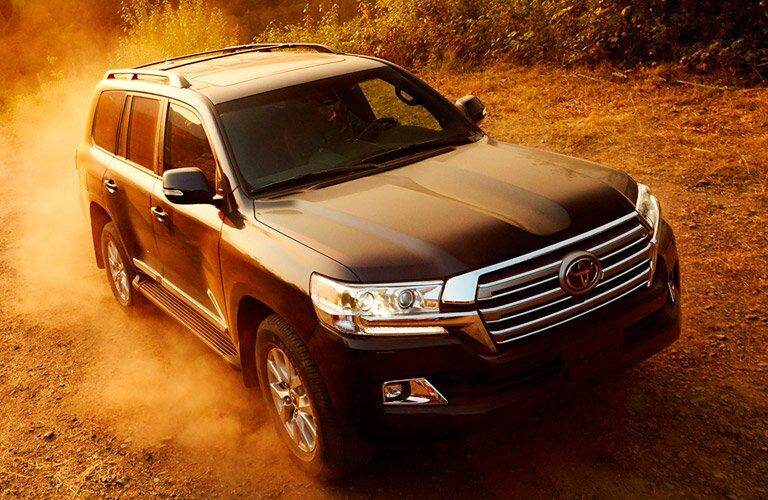 2017 Toyota Land Cruiser driving on dirt road