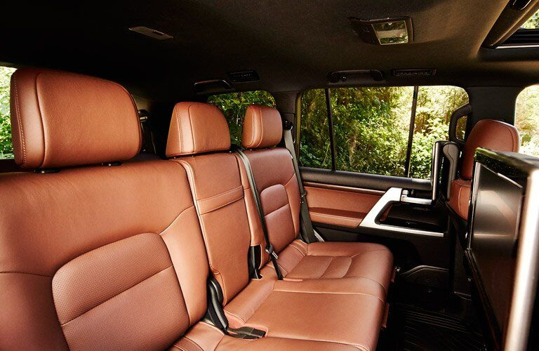 2017 Toyota Land Cruiser interior rear seats