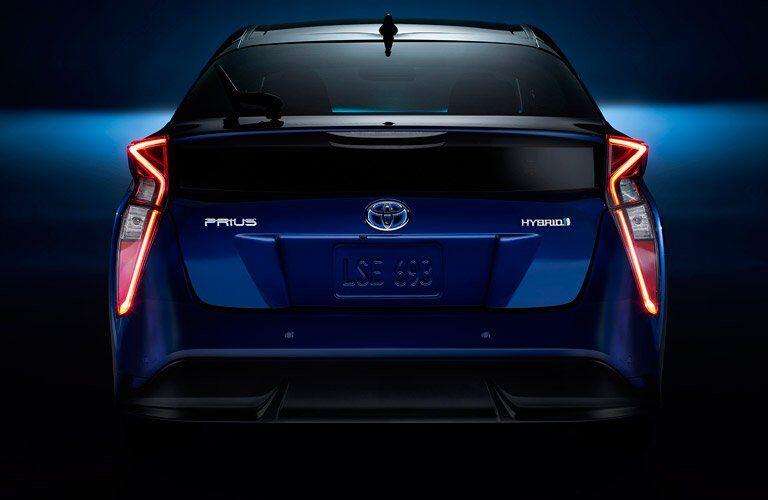 blue 2017 Toyota Prius exterior rear