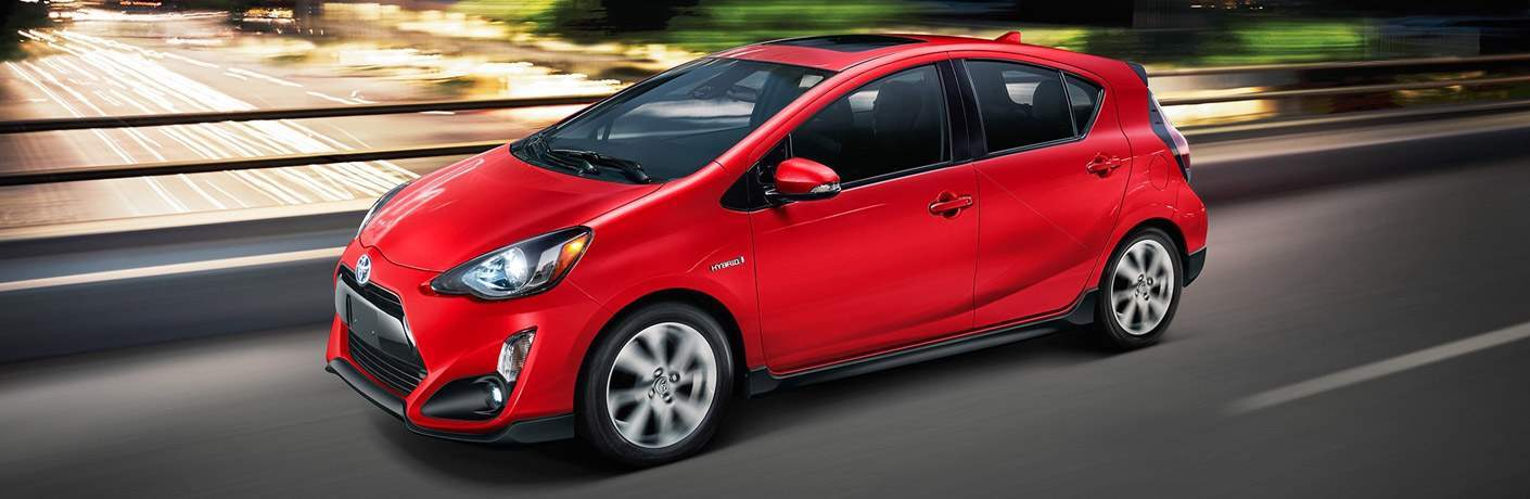 red 2017 Toyota Prius c exterior front side