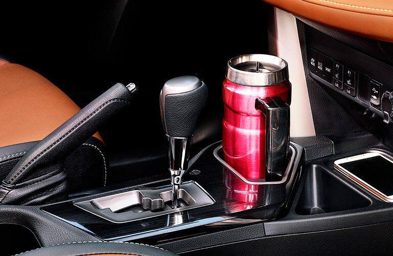 2017 Toyota RAV4 interior gear shift and cupholders