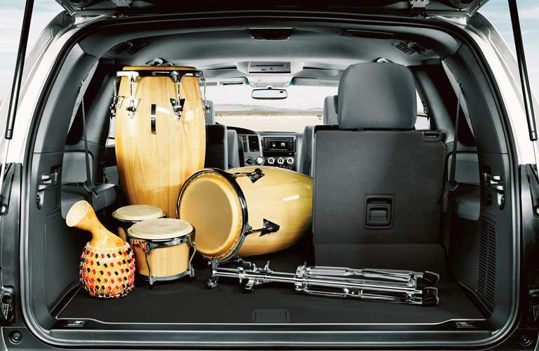 2017 Toyota Sequoia cargo are with percussion equipment inside