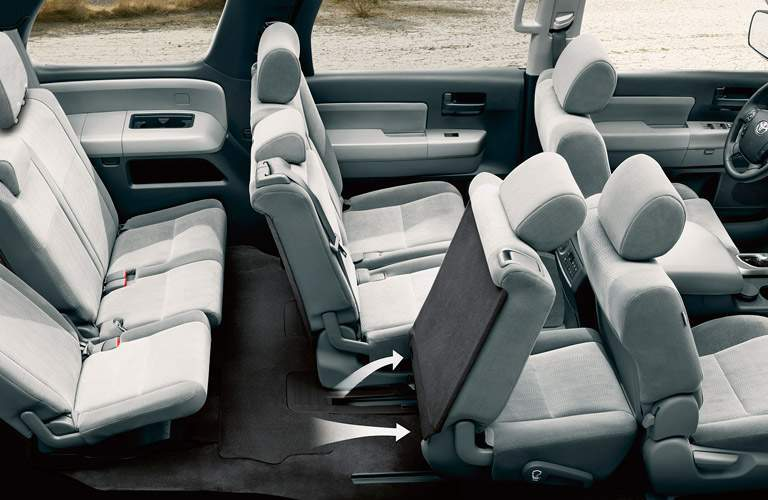 2017 Toyota Sequoia interior seats seen from top side