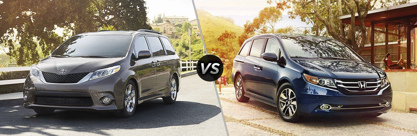 2017 Toyota Sienna And 2017 Honda Odyssey Front Exteriors