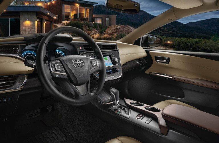 2017 Toyota Avalon interior steering wheel and center console