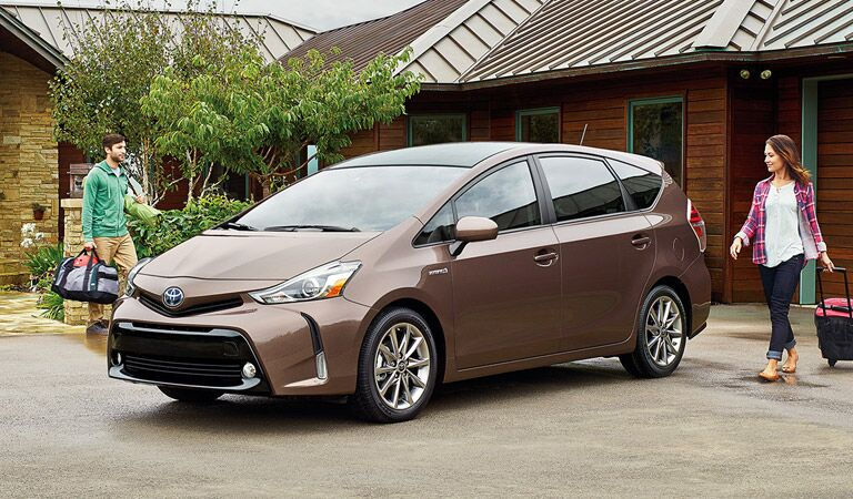 2017 Toyota Prius v exterior front side view