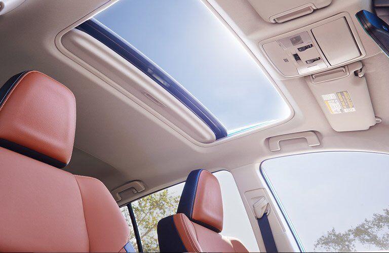 2017 Toyota RAV4 Hybrid sunroof from interior