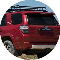 red 2017 Toyota 4Runner rear hatch