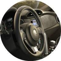 2017 Toyota 86 steering wheel closeup