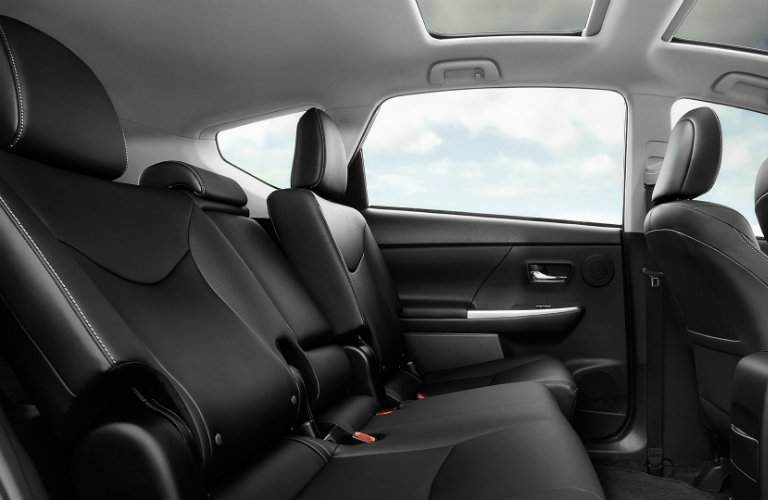2017 Toyota Prius v interior rear seats