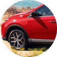 red 2017 Toyota RAV4 front driver side
