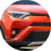 2017 Toyota RAV4 headlight closeup