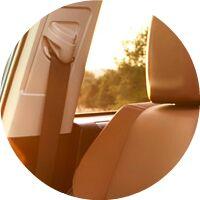 2017 Toyota RAV4 passenger seat headrest and seatbelt