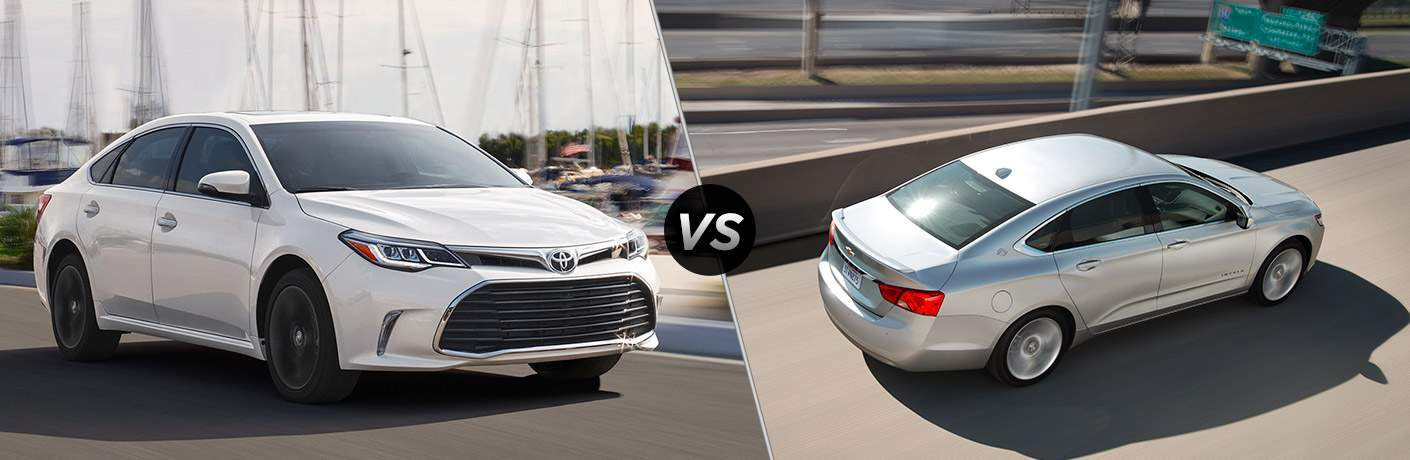 Toyota Avalon and Chevrolet Impala side by side