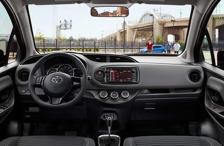 2018 Toyota Yaris steering wheel and dashboard