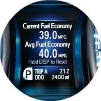 2018 Toyota Avalon Hybrid fuel economy gauge