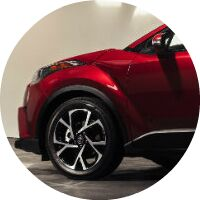 red 2018 Toyota C-HR exterior front portion
