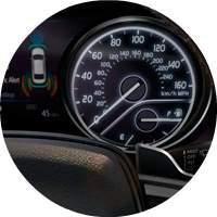2018 Toyota Camry speedometer closeup
