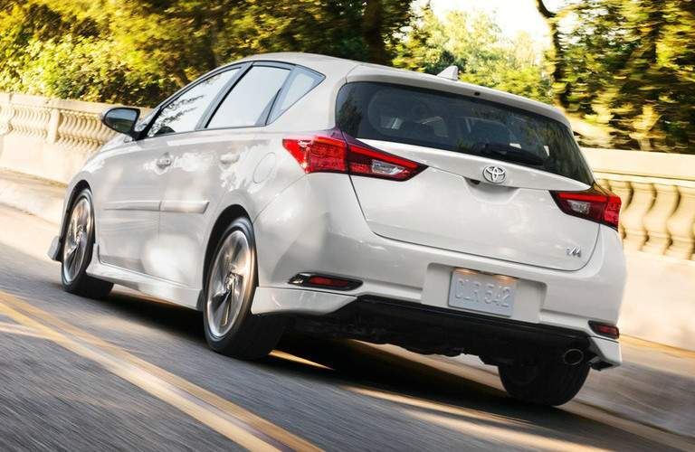 white 2018 Toyota Corolla iM exterior rear side