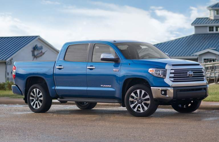 blue 2018 Toyota Tundra exterior front side angle
