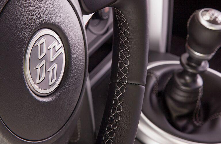 steering wheel detail of 2019 86