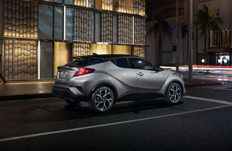 2019 Toyota C-HR exterior back fascia and passenger side