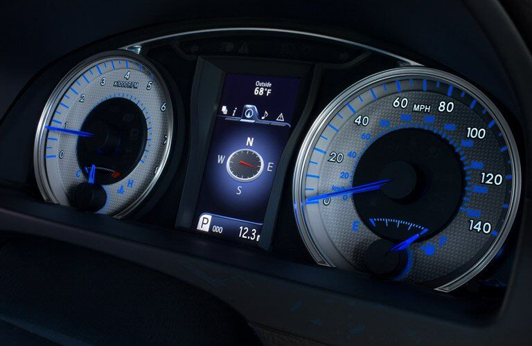 2017 Toyota Camry instrument panel lit up