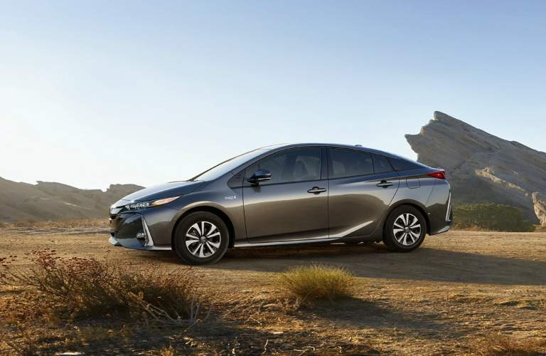 gray 2018 Toyota Prius Prime side view