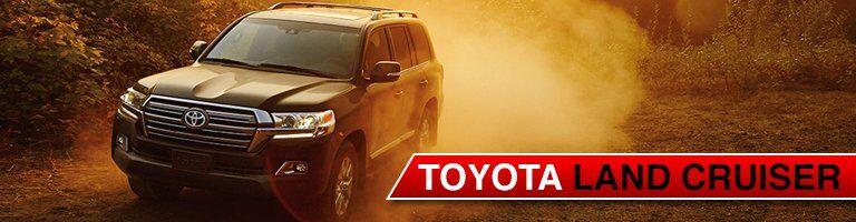 black Toyota Land Cruiser front view