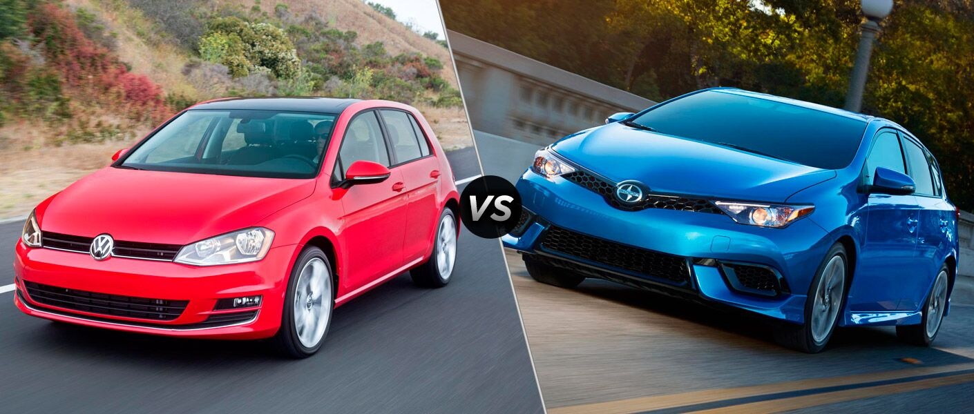 2016 Volkswagen Golf vs 2016 Scion iM