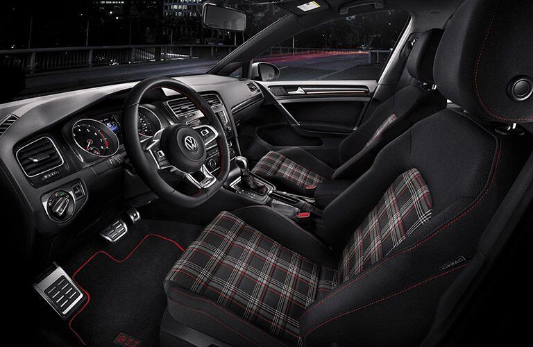 2016 Volkswagen Golf GTI interior driver's seat front passenger seat steering wheel