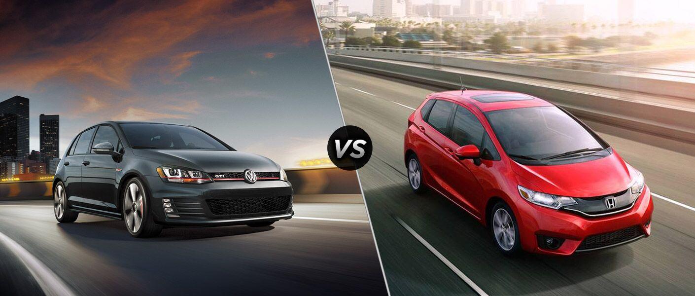 2016 Volkswagen Golf GTI vs 2016 Honda Fit