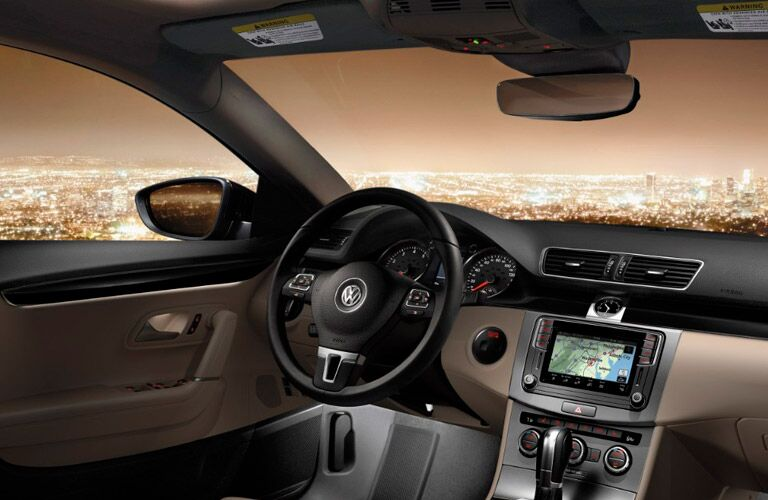 2017 Volkswagen CC front interior driver dash and display audio