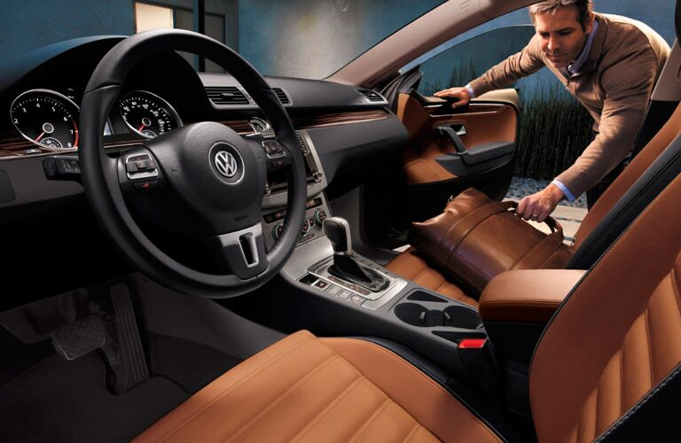 2017 Volkswagen CC front interior passenger space